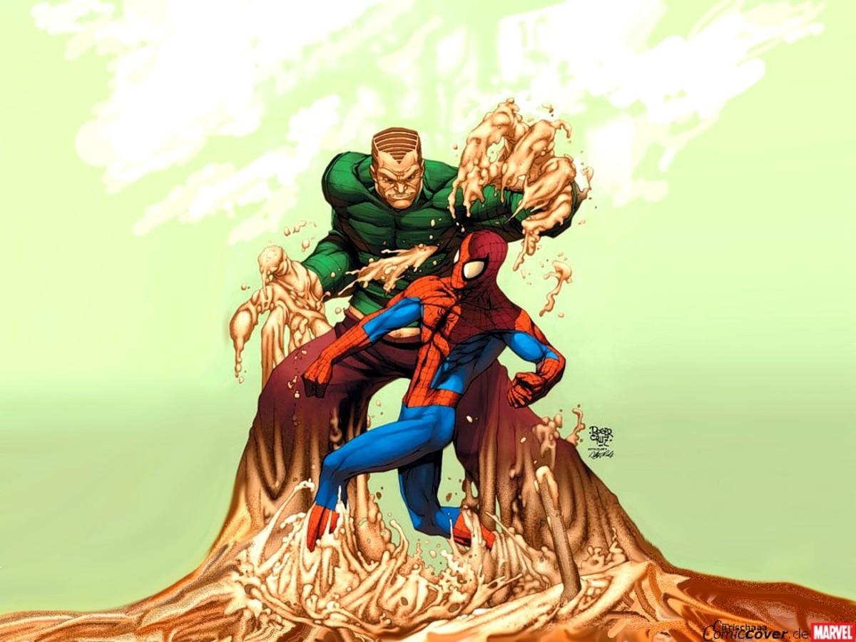 The Sandman battles Spiderman