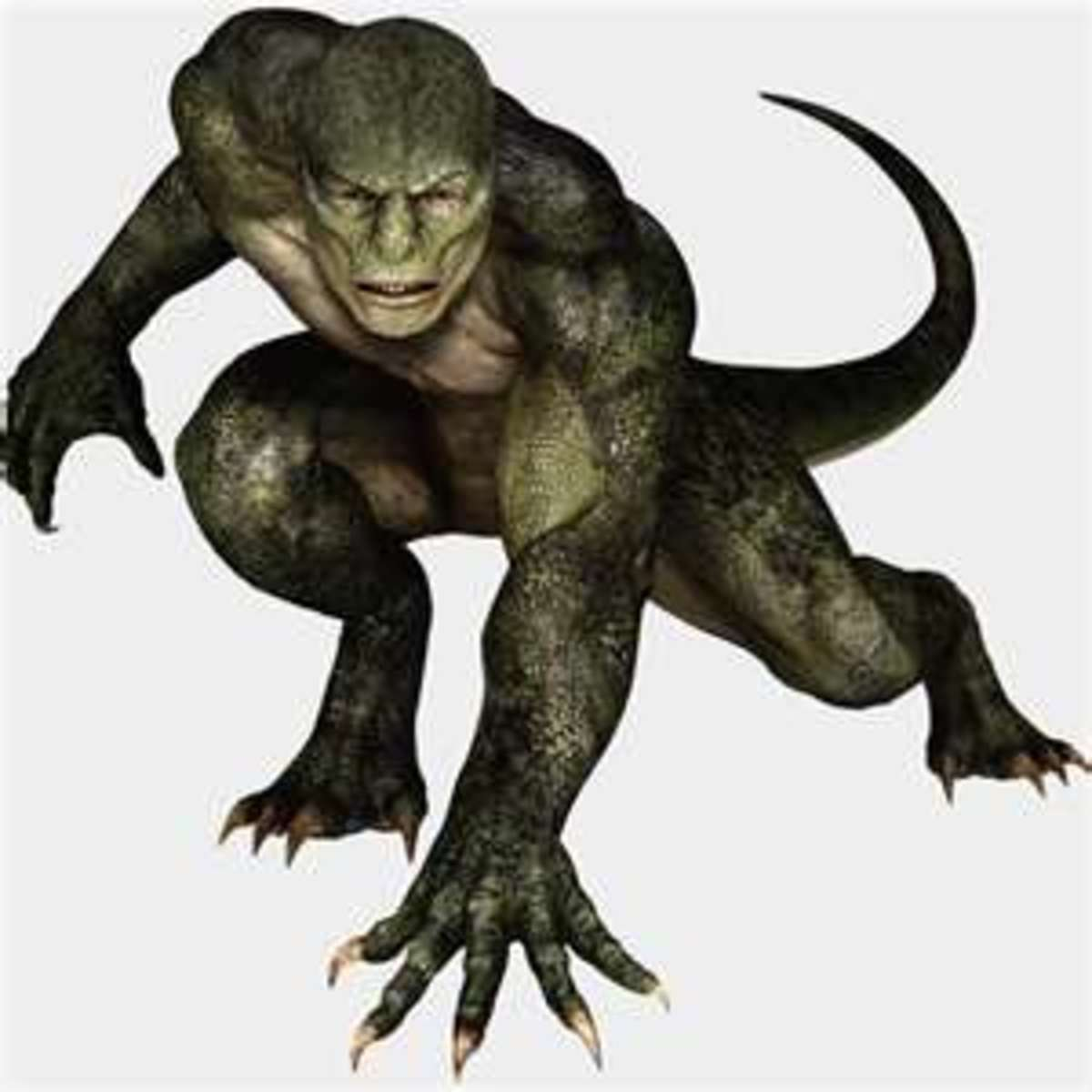 The Lizard as he appears in the newest Spiderman film.