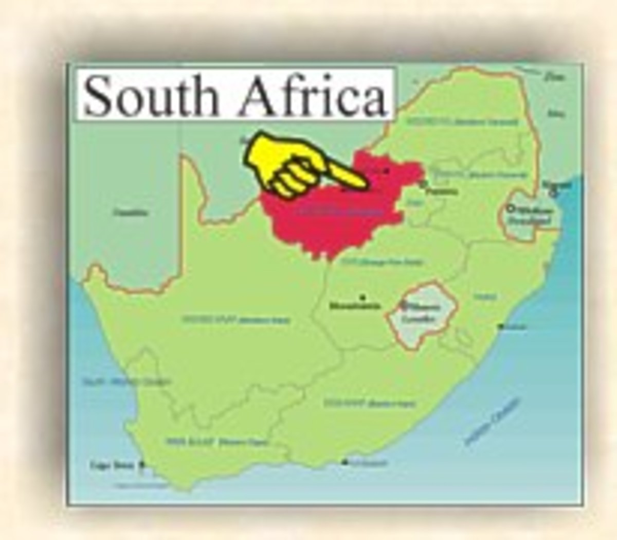 Travel in South Africa - North West Province - from Klerksdorp to Groot Marico