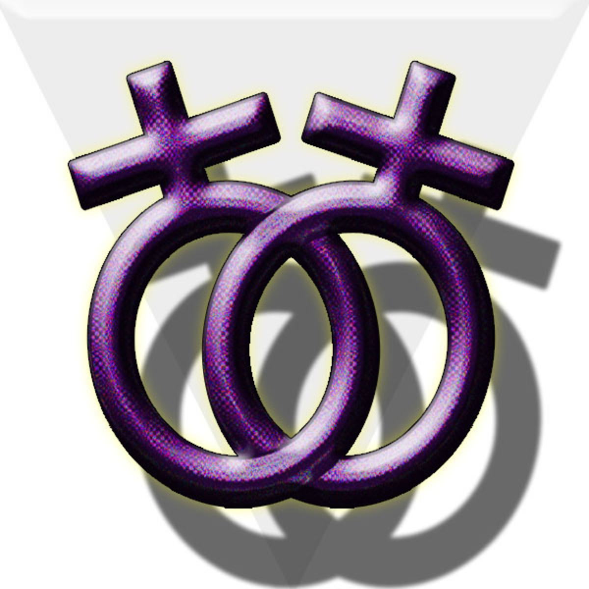 Most commonly recognized lesbian symbol.