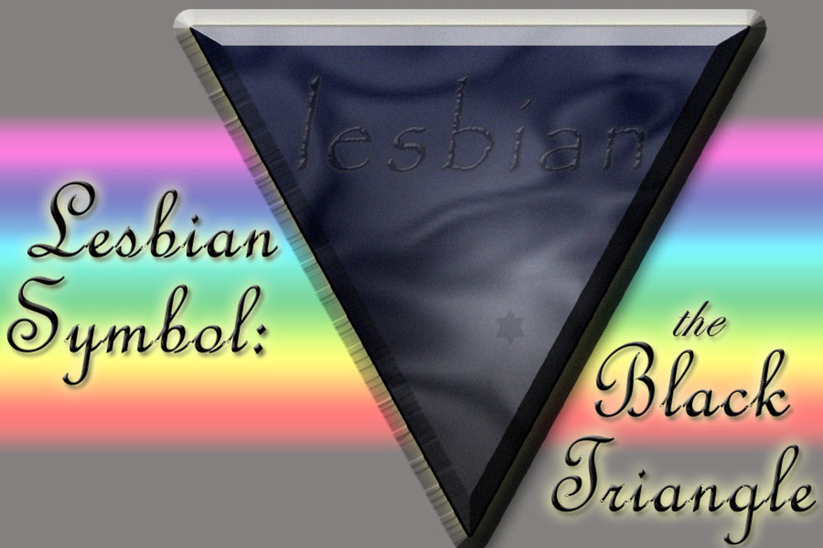 The black triangle is a symbol of the lesbian community.