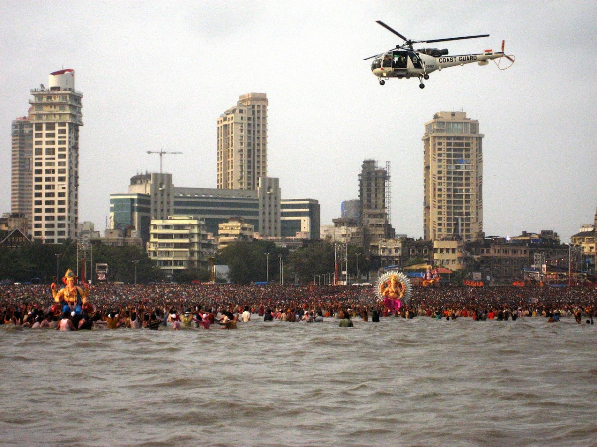 Another view of visarjan
