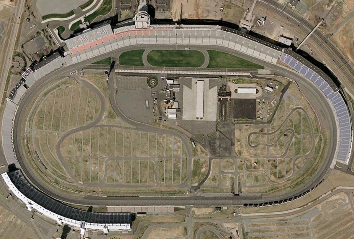 Charlotte Motor Speedway as seen from space.