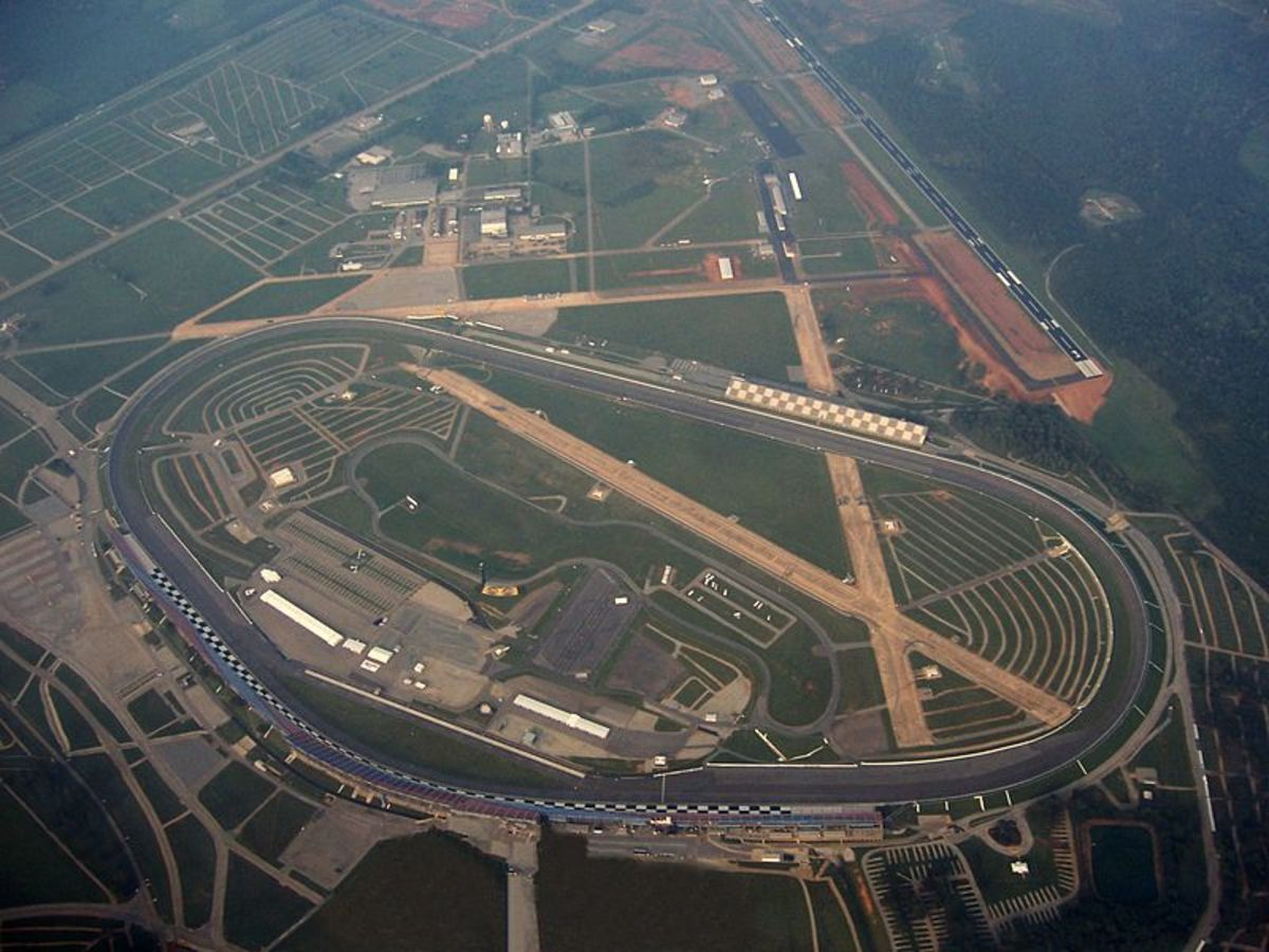 Talladega Superspeedway as seen from the air.