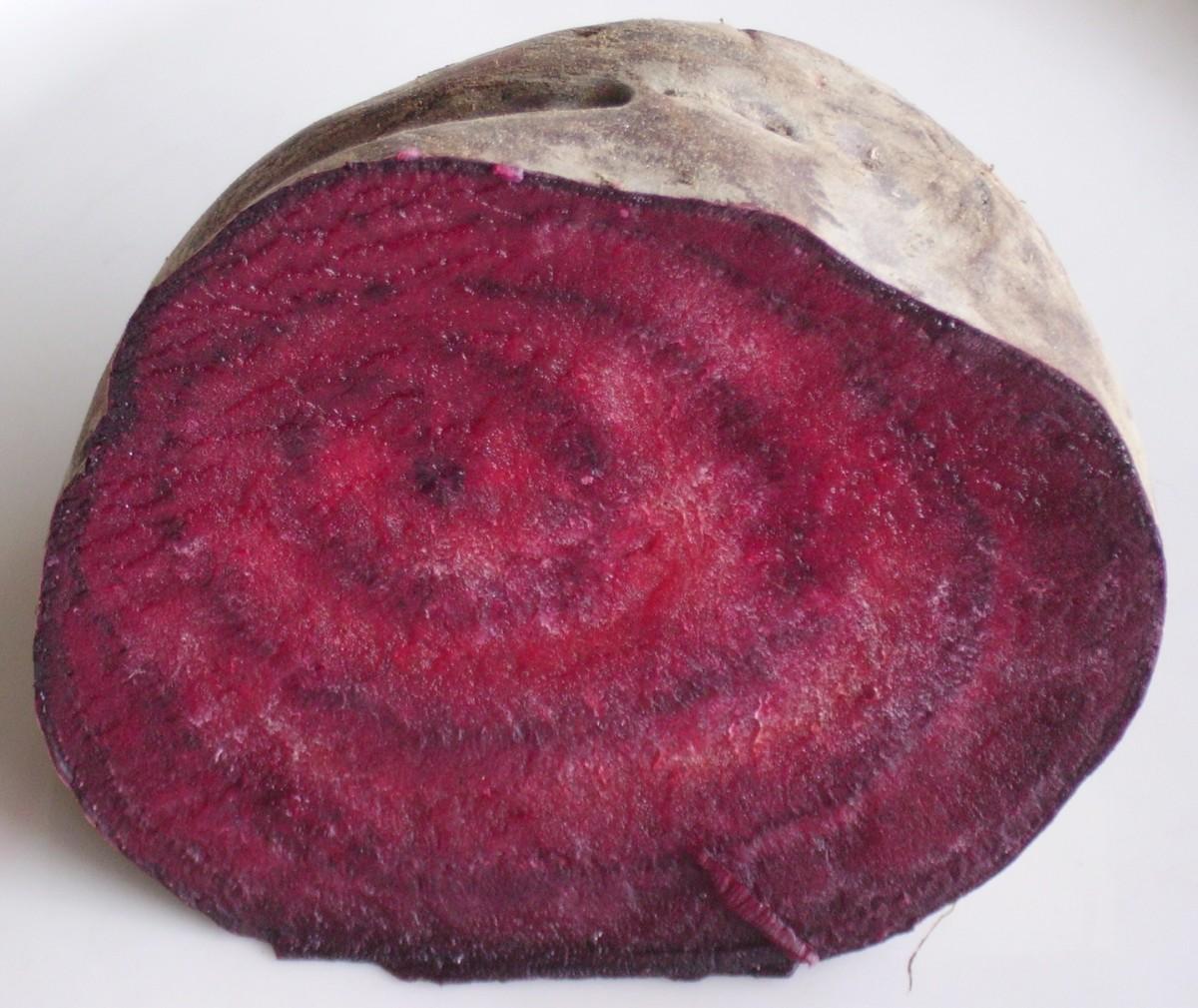 half cut beet