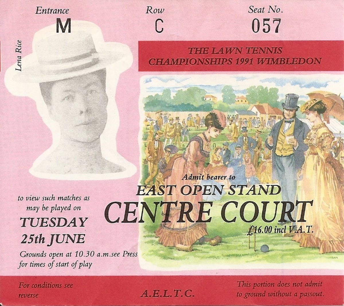 my prized centre court ticket