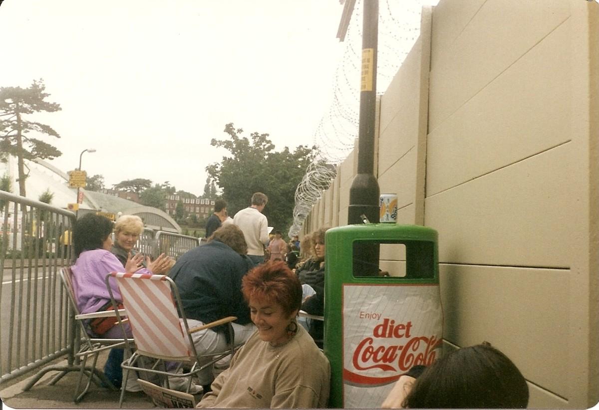 queuing at Wimbledon
