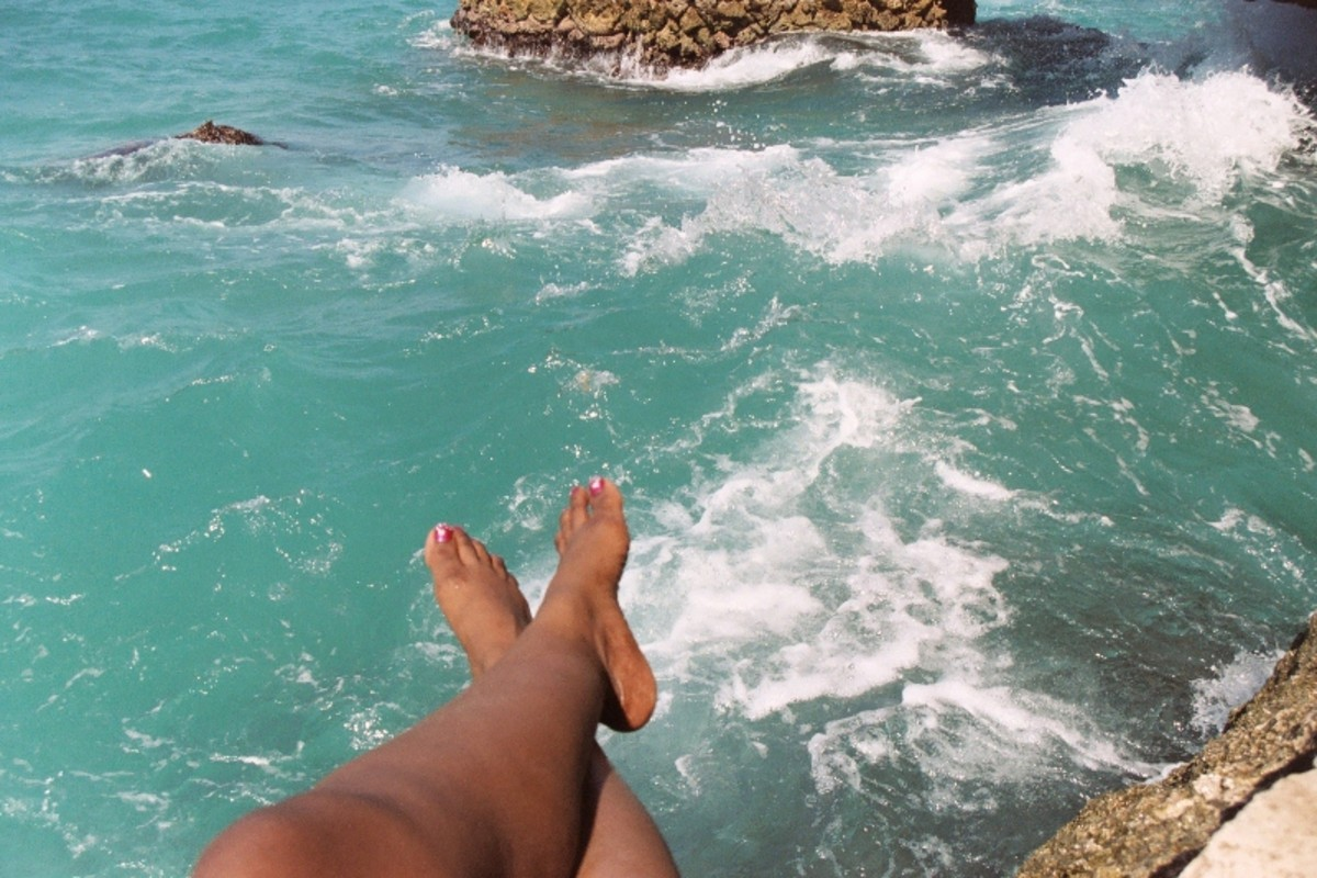 Sitting on the Negril Cliffs at Xtabi Resort offers the best view of the ocean.