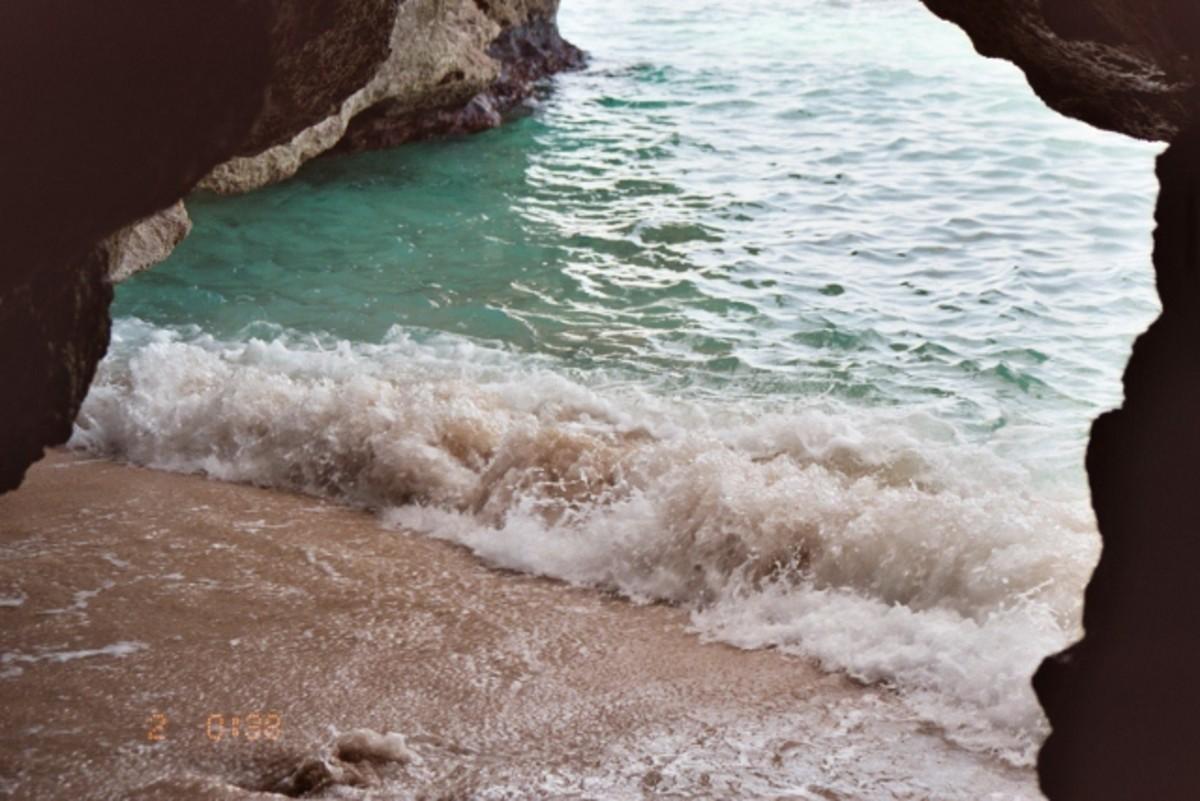 Cave under Negril Cliffs, Negril, Jamaica