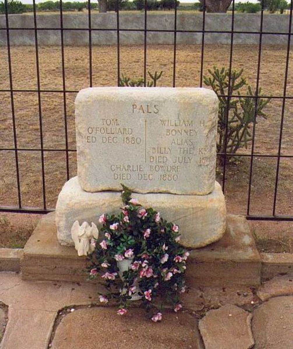 The grave of Billy the Kid in Ft Sumner New Mexico. But is Billy the Kid really buried here.