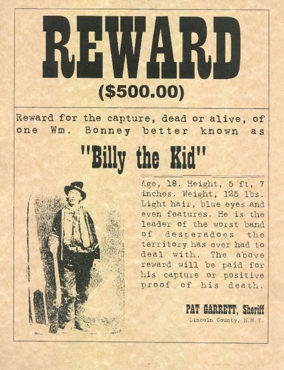 Billy The Kid , Wanted Poster