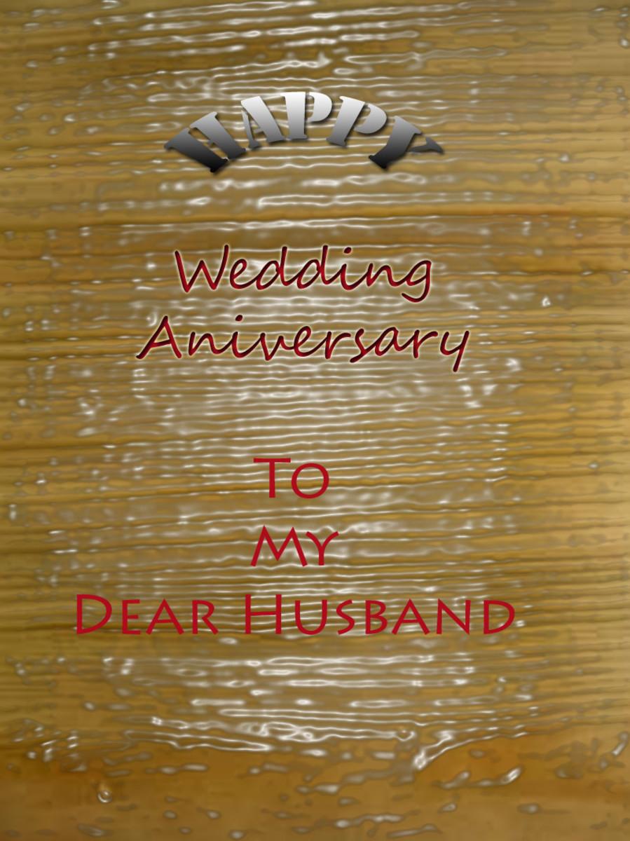 Happy Wedding Anniversary to Husband Card