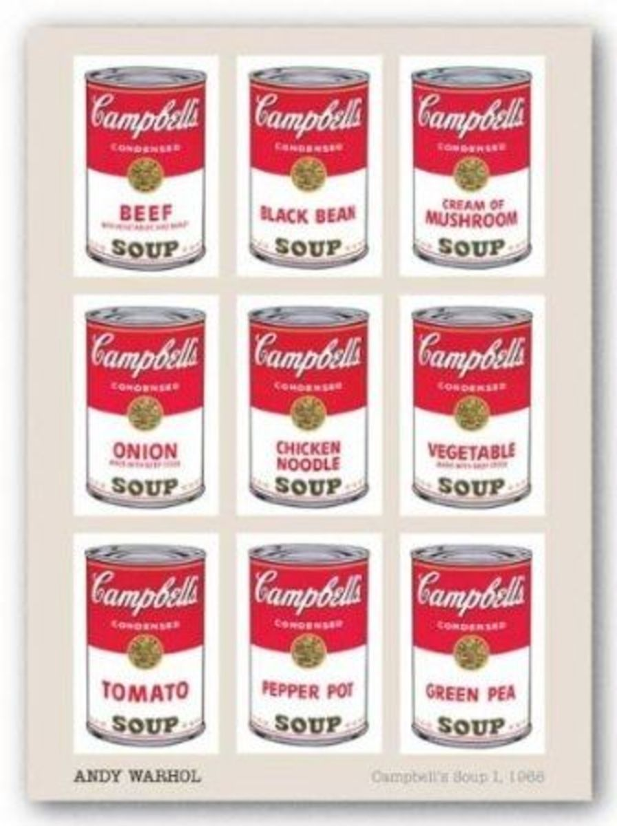 (24x36) Andy Warhol - Campbell's Soup I, Art Poster Print