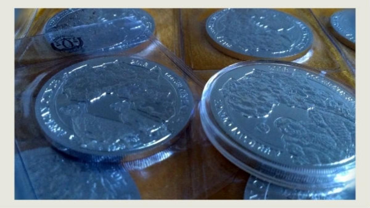 Rwanda Silver Gorilla, Rhinoceros, Cheetah Coin