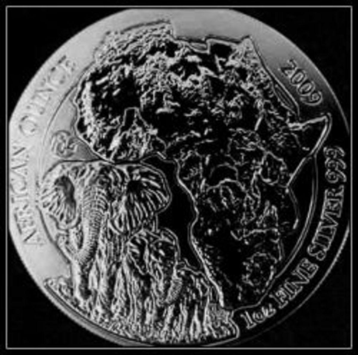 2009 Rwanda Elephant Silver Coin