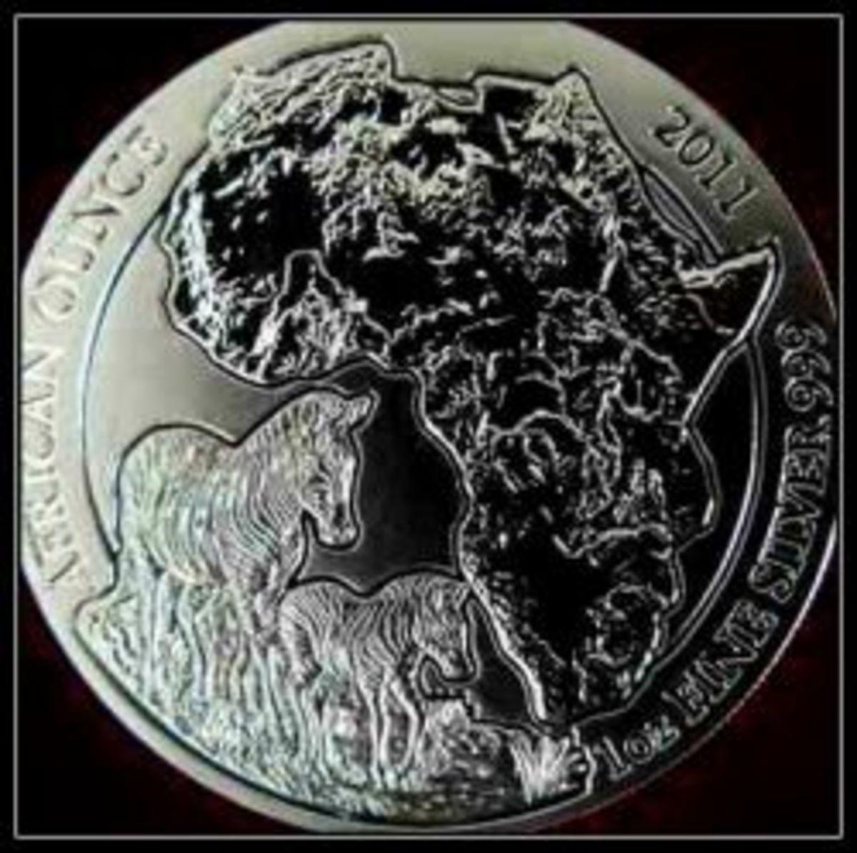 2011 Rwanda Zebra Silver Coin