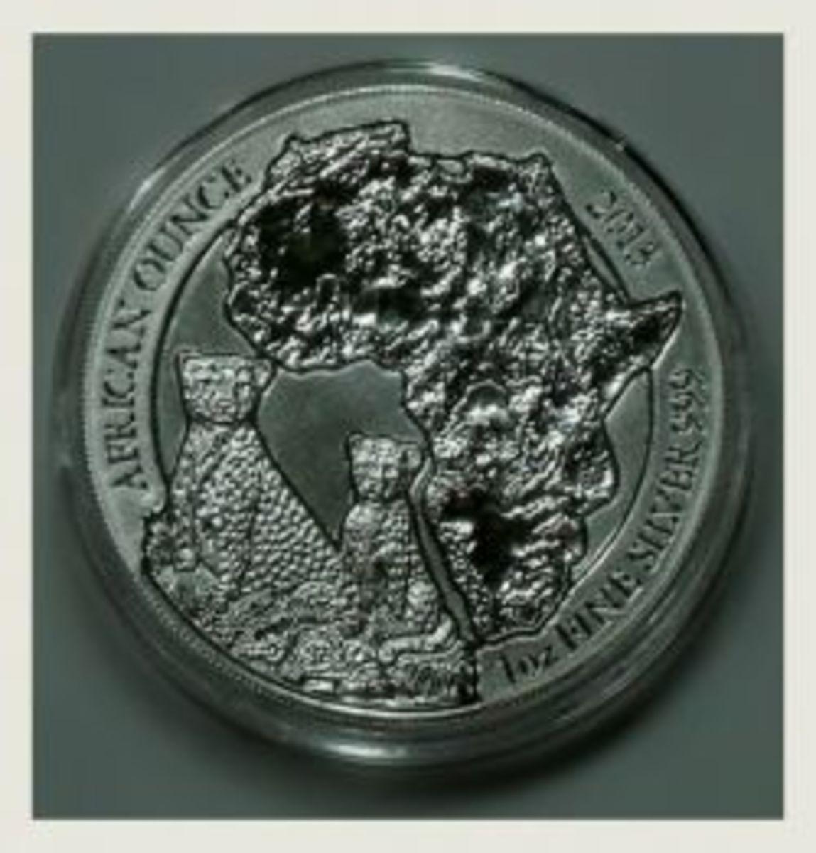 2013 Rwanda Silver Cheetah Coin