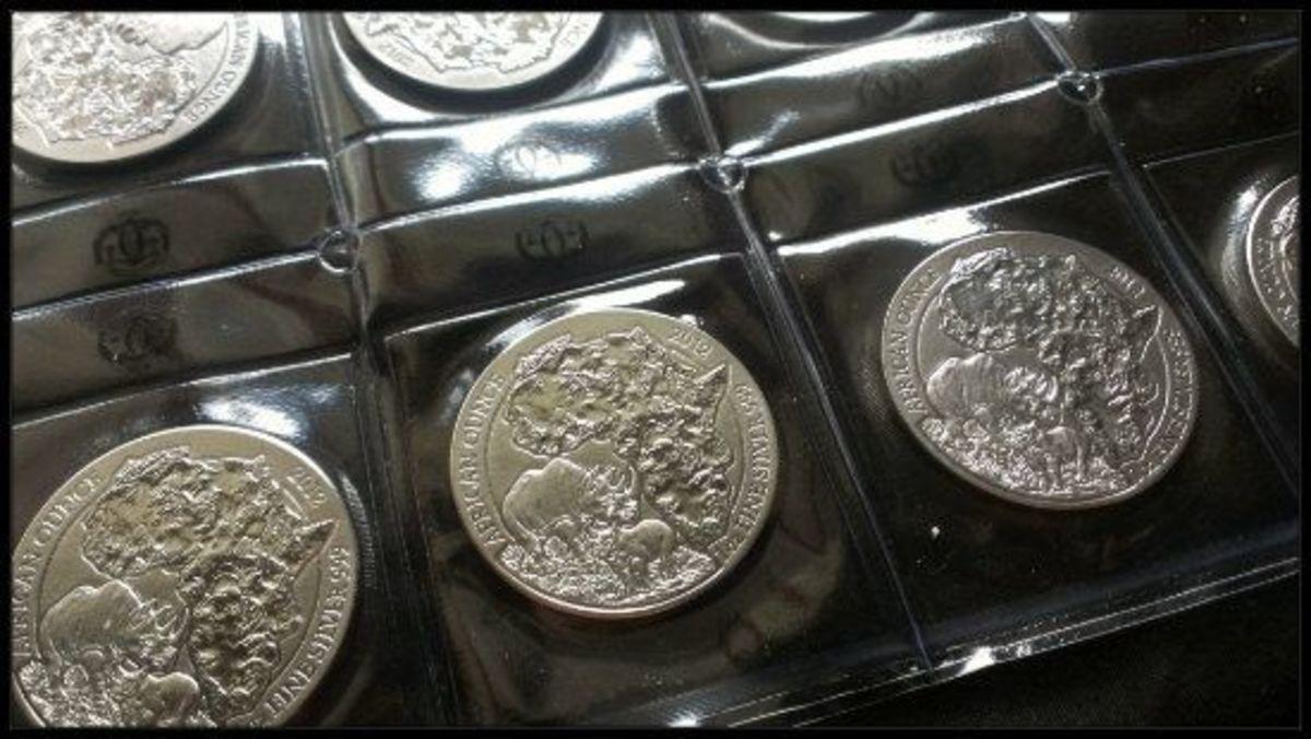 Rwanda Wildlife Rhino Silver Coin Mint Sheet