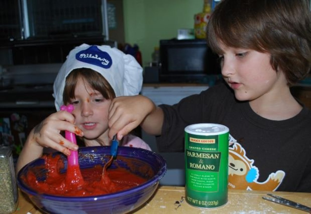 Among other images, a pic of kids making the sauce would add interest to the story.