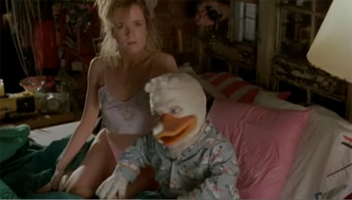 Nothing to see here! Please avert your eyes from the duck-man and his scantily clad lady friend!