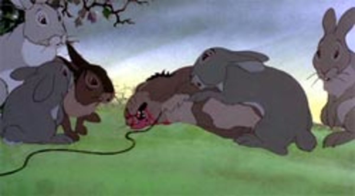 Yes, that is one of many dead bunnies. It must be rabbit hunting season in Watership Down.