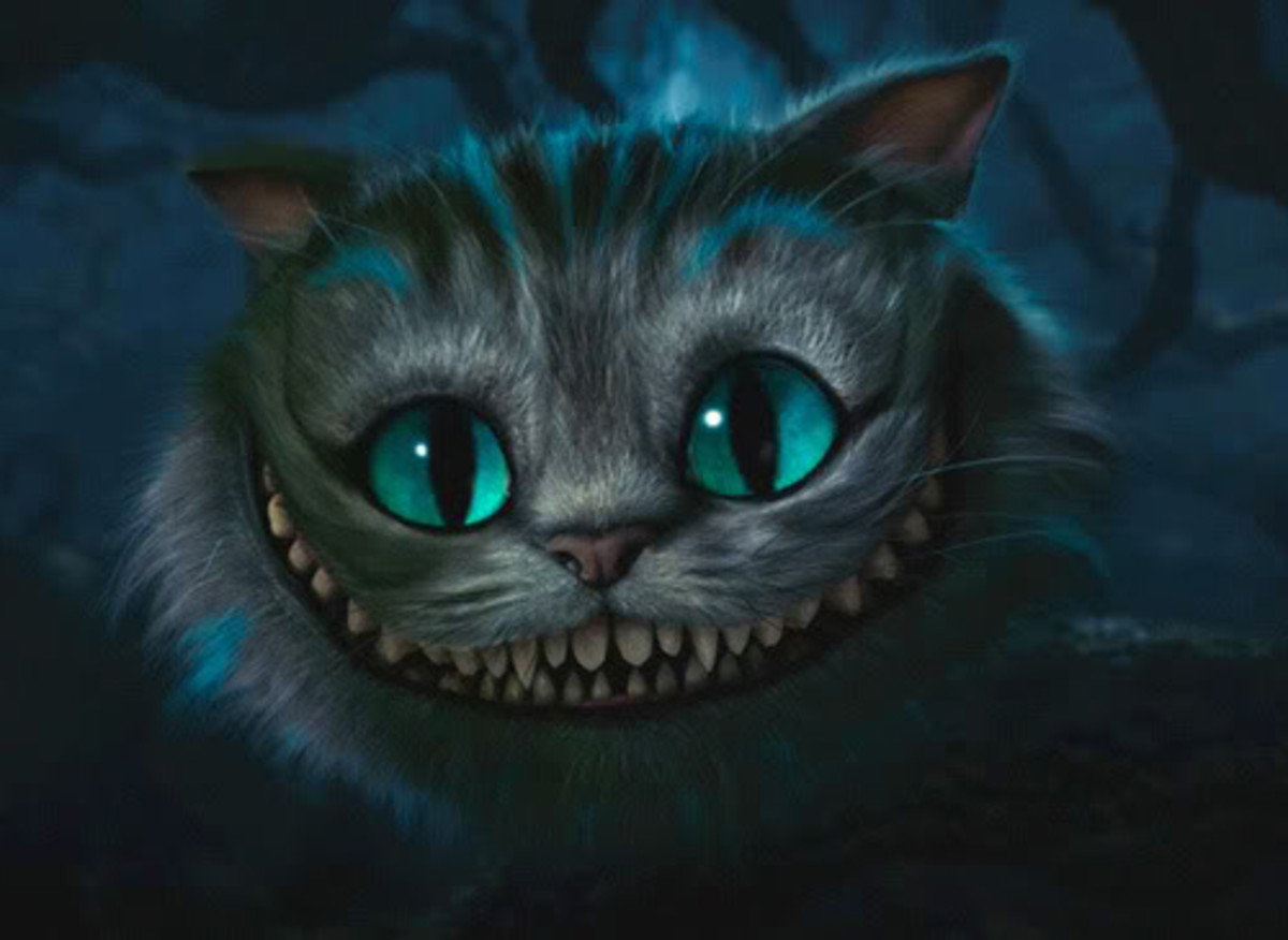 This is possibly one the cutest Cheshire cats ever illustrated.