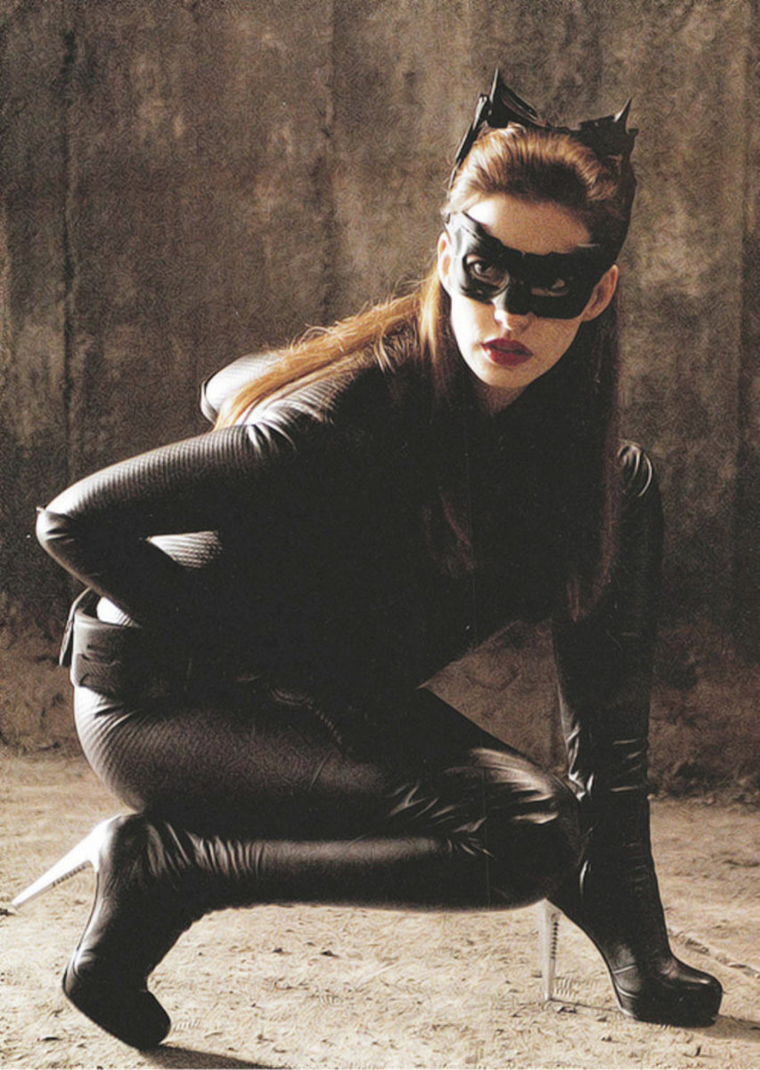 Anne Hathaway as Catwomen in The Dark Knight