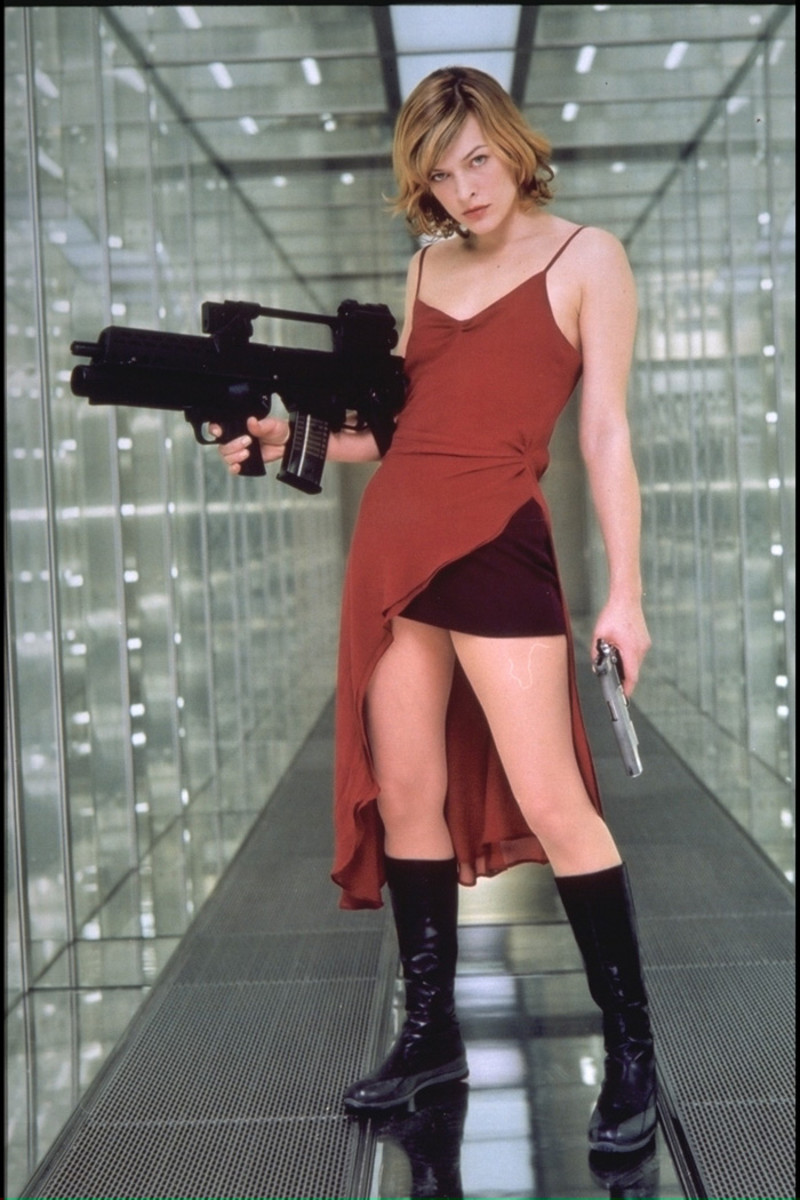 Milla Jovovich as Alice in Resident Evil