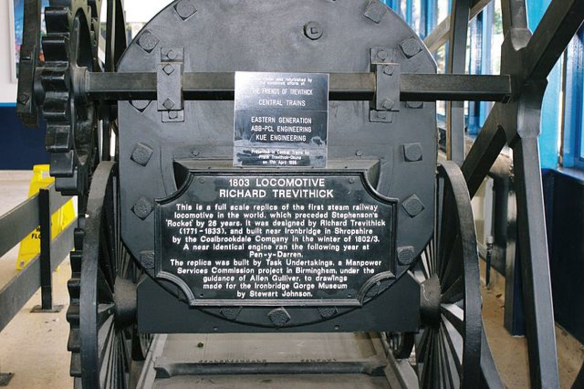 Richard Trevithick's replica of the unnamed locomotive.