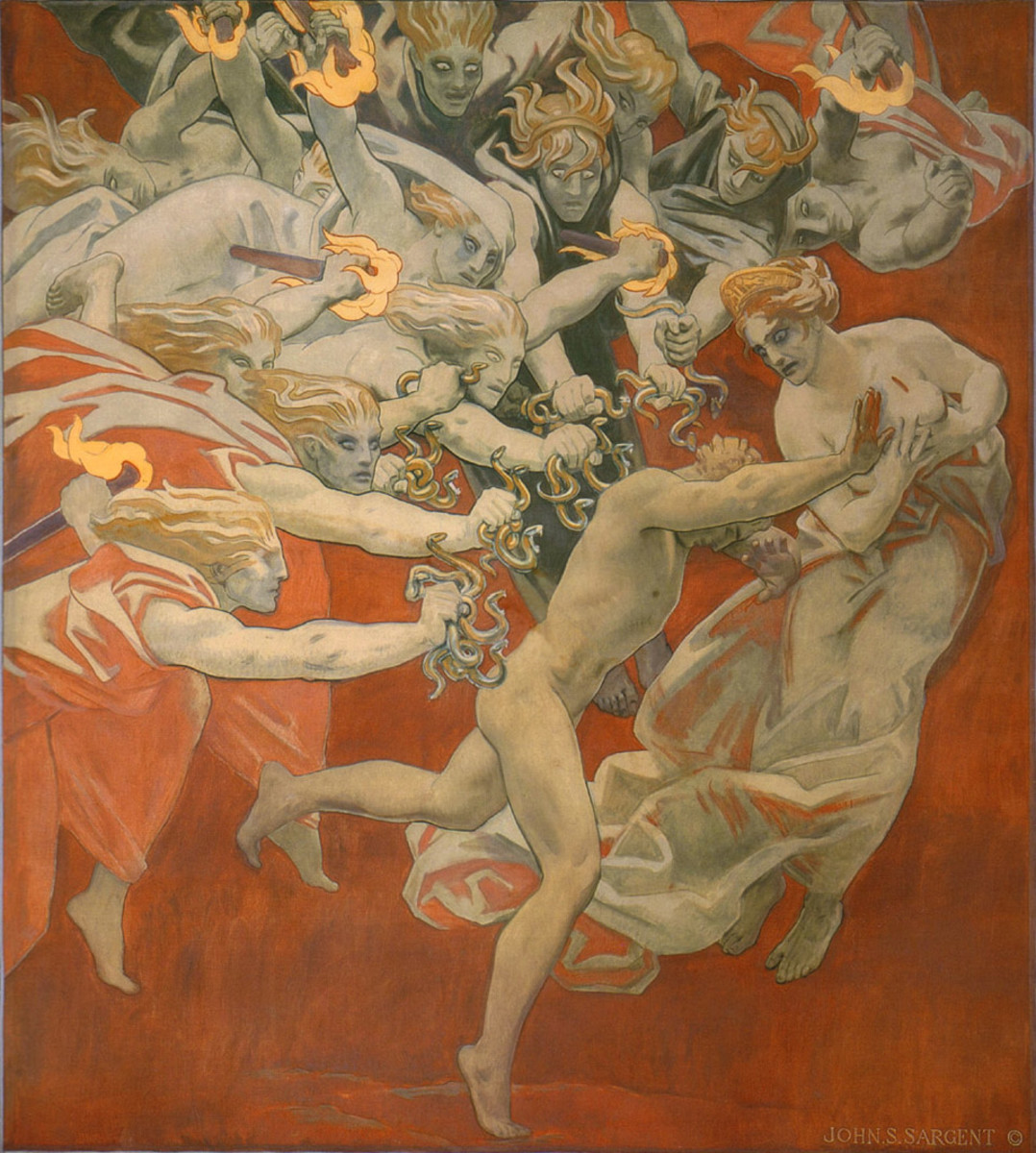 The Furies pursue Orestes