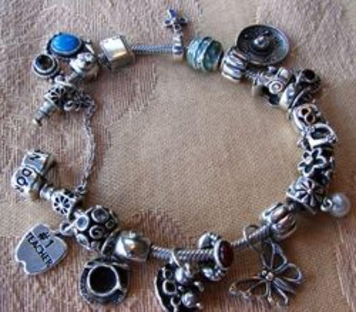 Adapting Vintage Charms to a Pandora Charm Bracelet