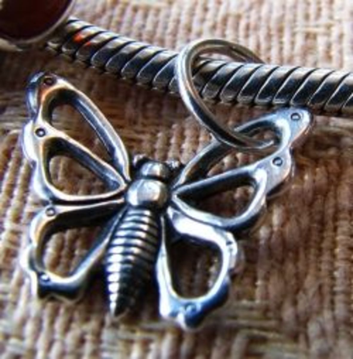 My Butterfly Charm adapted to my Pandora bracelet. Photo by Diane Cass
