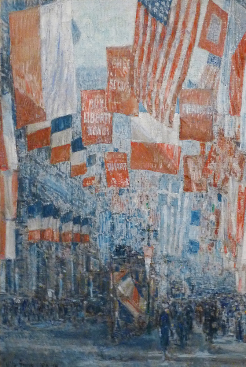 Avenue of the Allies, 5th Avenue, New York, 1917 by Childe Hassam