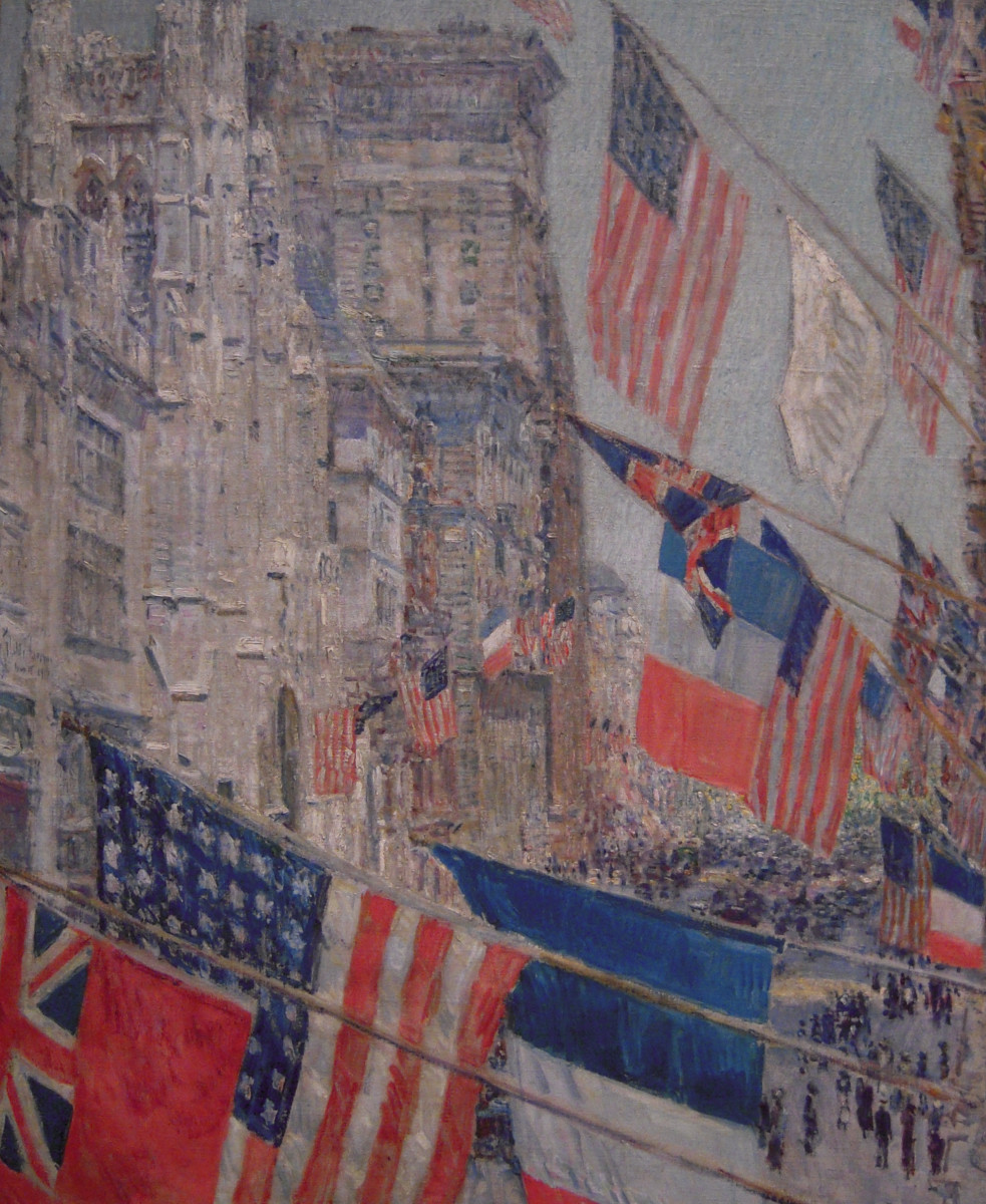 Allies Day, May 1917 by Childe Hassam. Hanging at the National Gallery of Art in Washington D.C