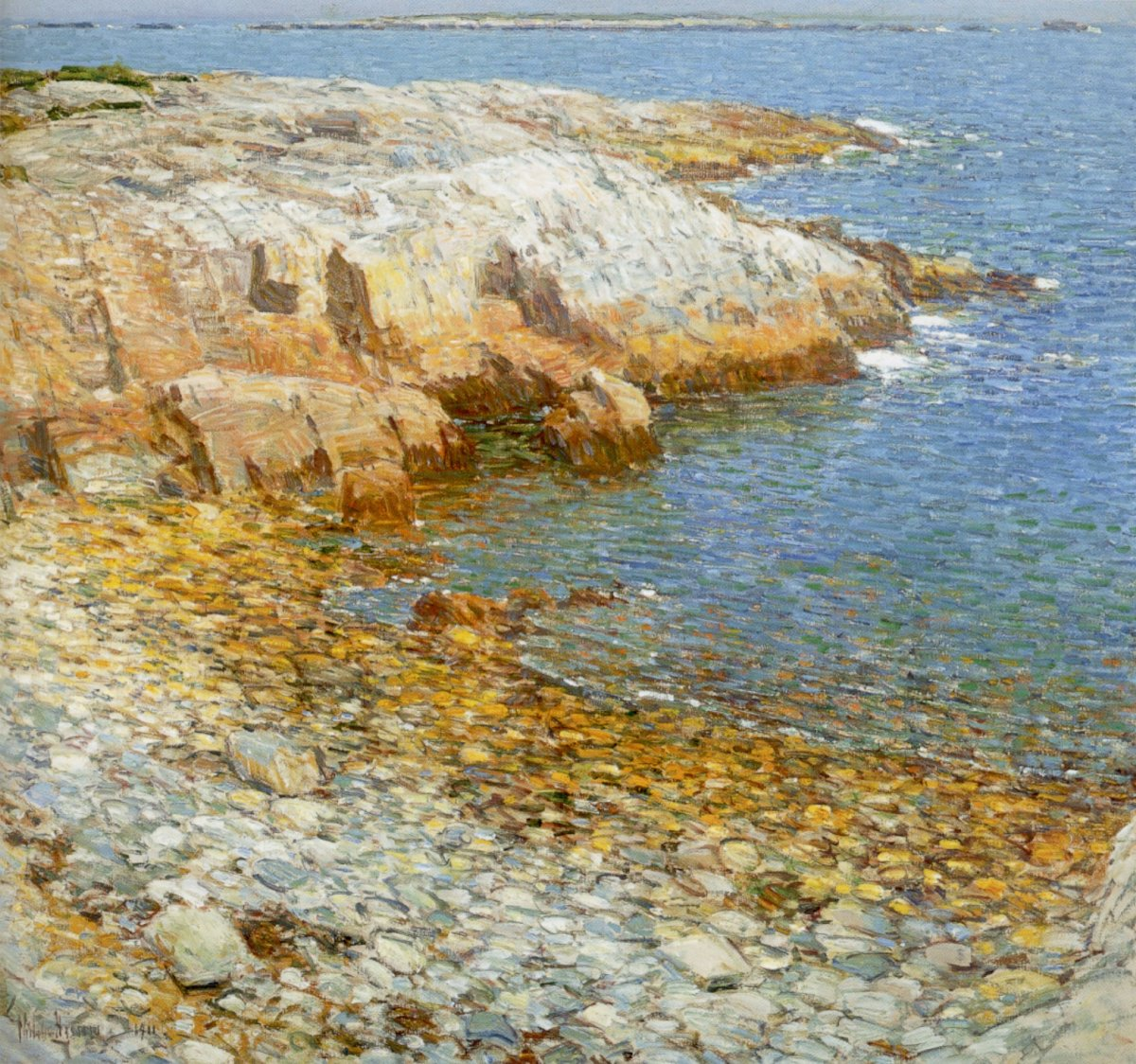 'Isles of Shoals, Broad Cove'  (1911) oil on canvas painting by Childe Hassam