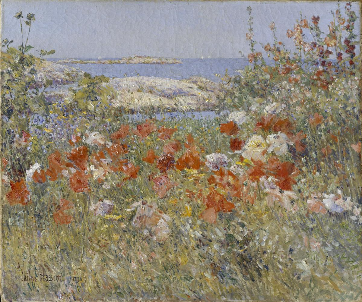 Celia Thaxter's Garden, Isles of Shoals, Maine, (1890) - oil painting by Childe Hassam