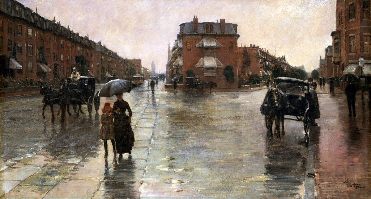 Rainy Day, Boston (1995) by Childe Hassam