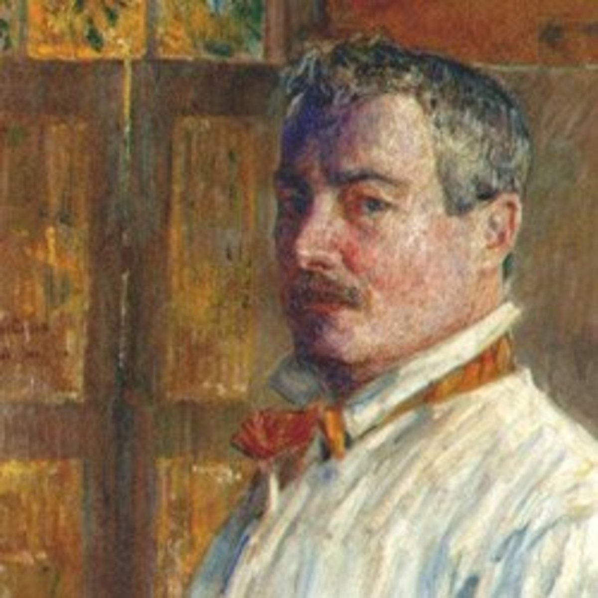 Crop of a Self Portrait by Childe Hassam