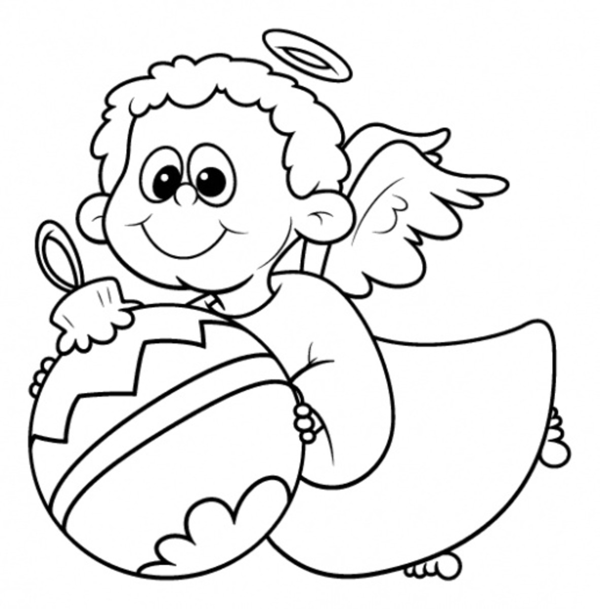 printable christmas coloring pages angels - photo#16