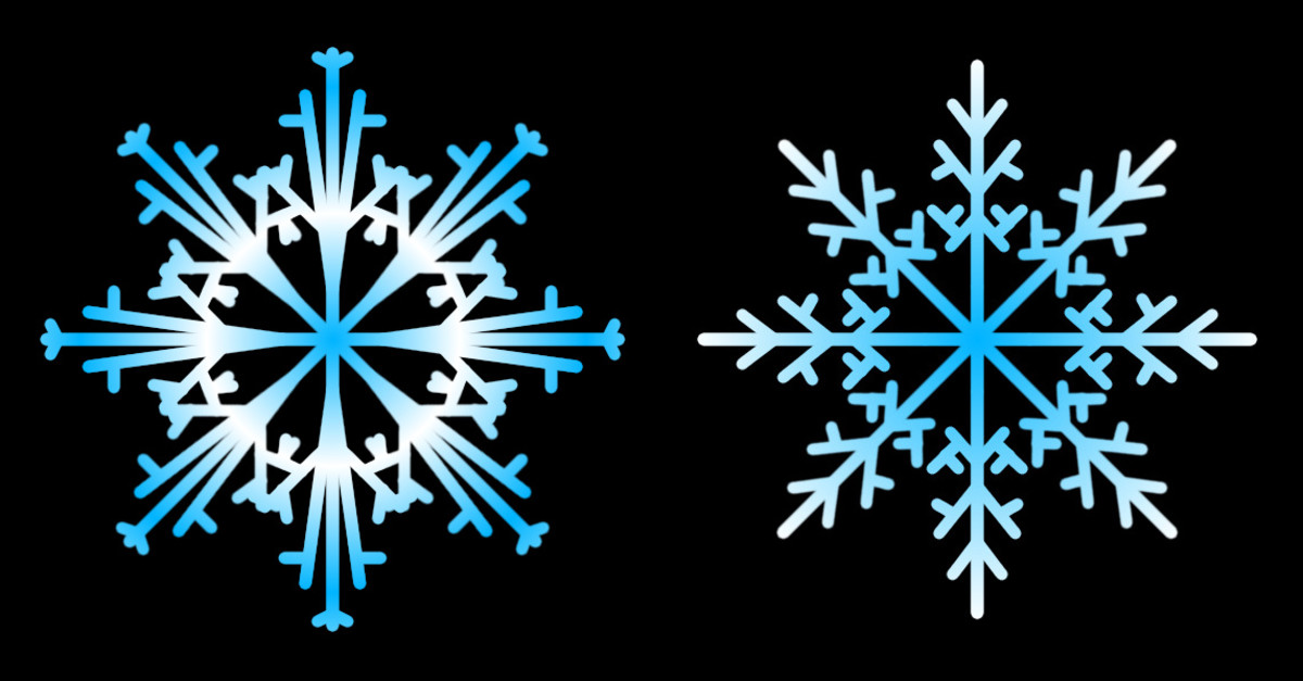 Snowflakes created using GIMP