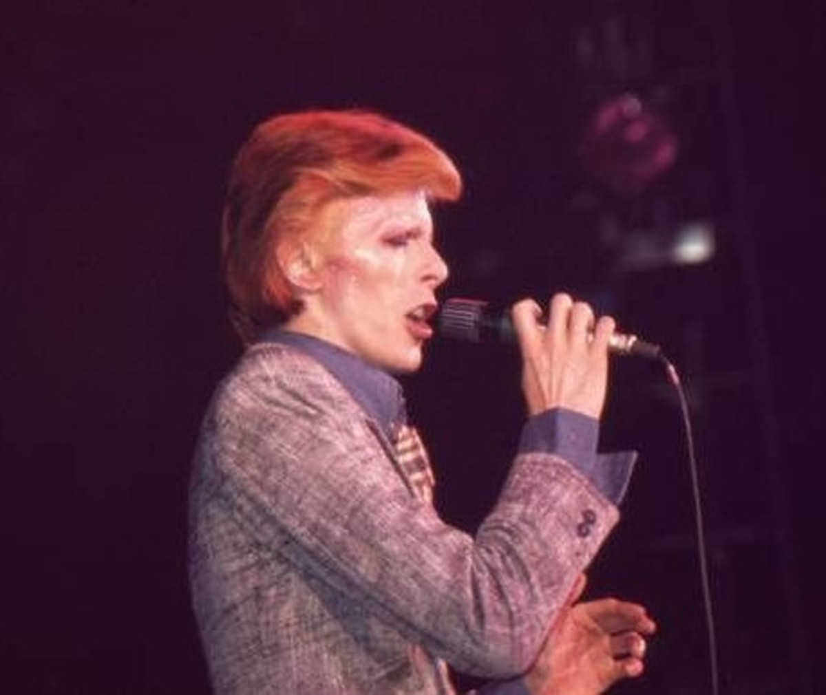 David Bowie on the Young Americans Tour, November 11, 1974.