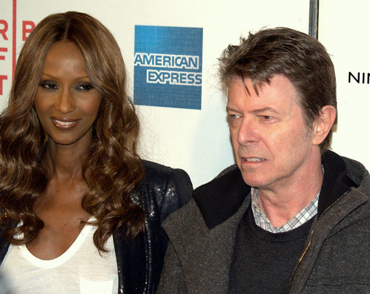 Iman and David at a movie premiere in 2009.