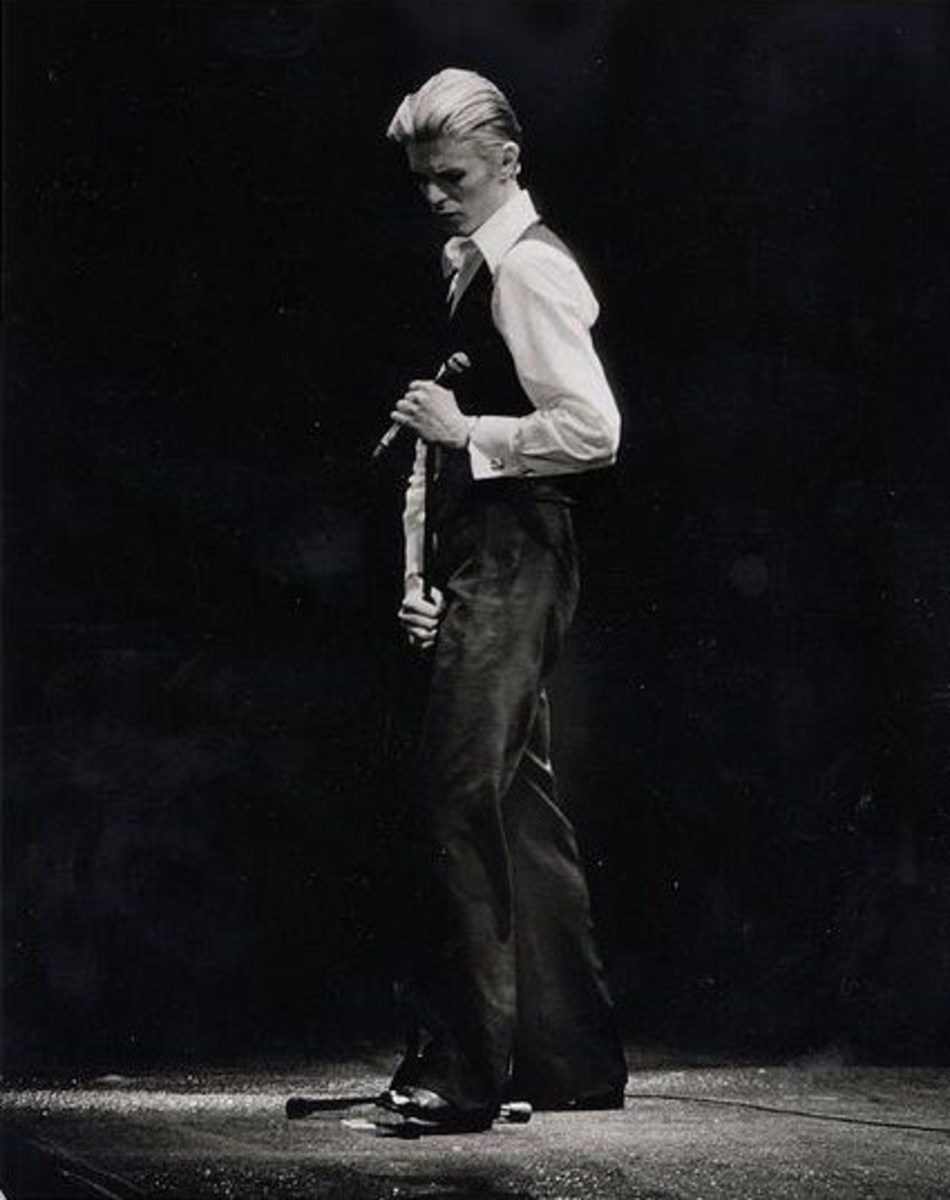 David Bowie in his Thin White Duke persona in 1976.