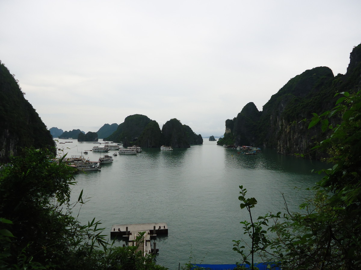 The UNESCO World Heritage Site of Halong Bay