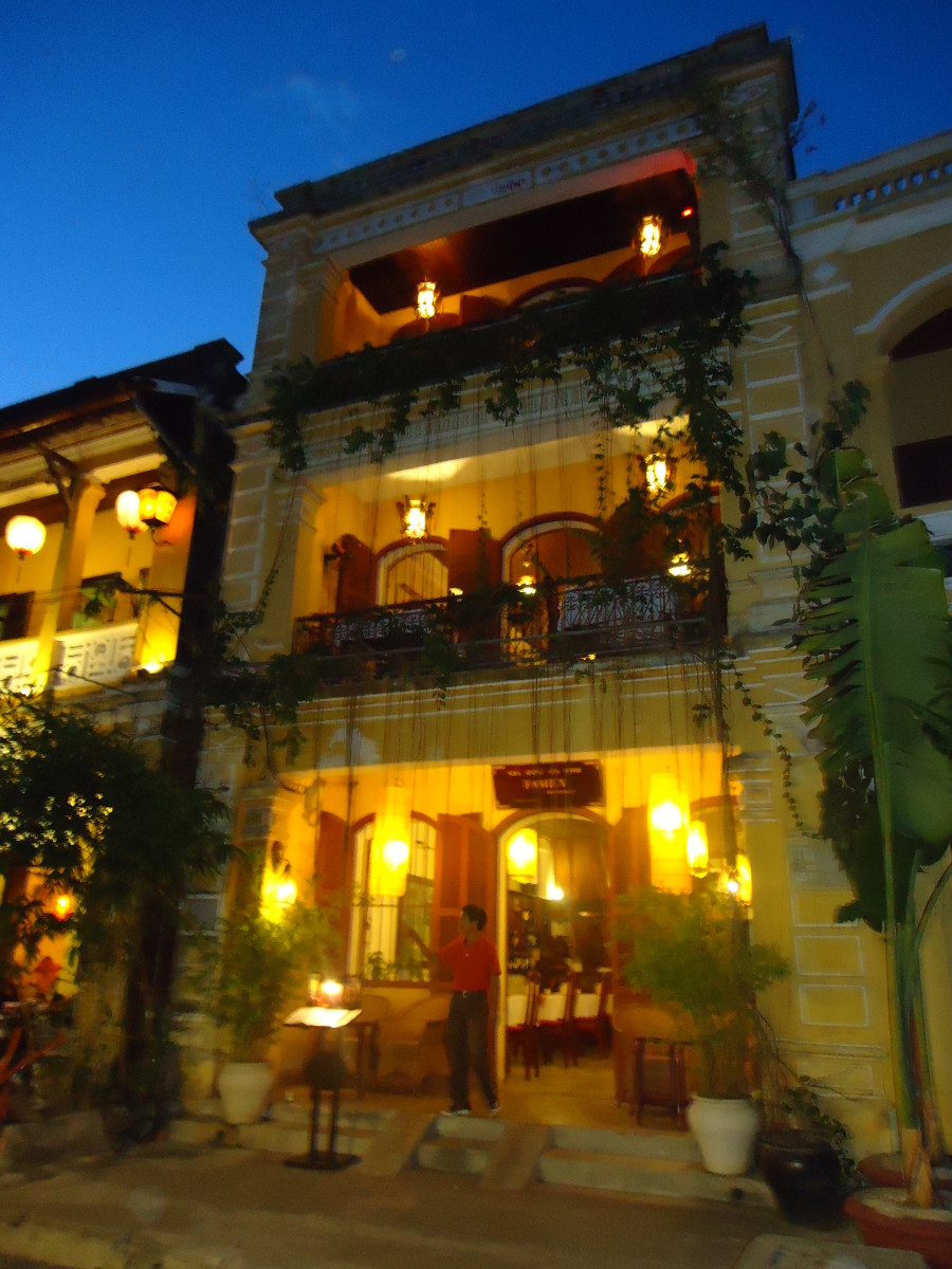 An example of colonial architecture from the French period in Hoi An