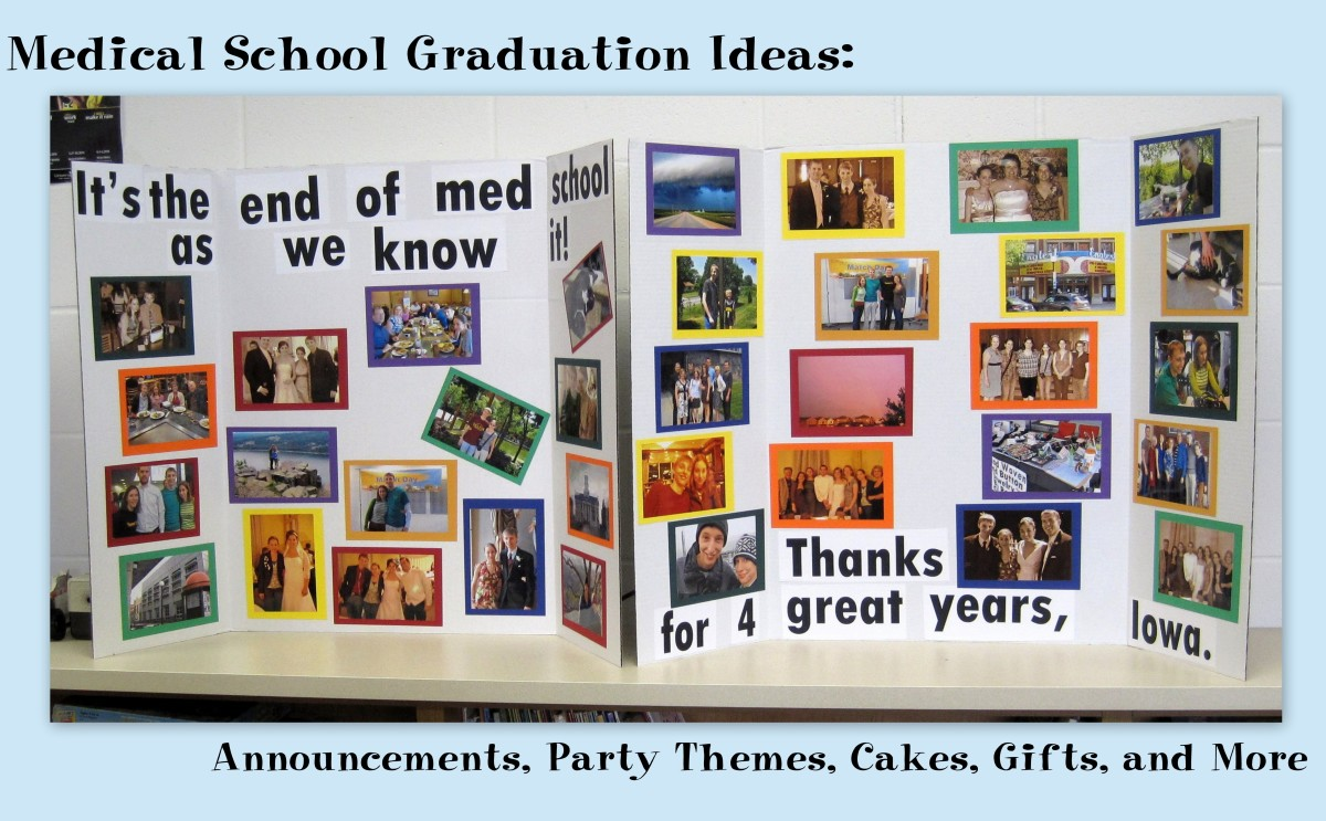 A photo display is a great component for any graduation party.