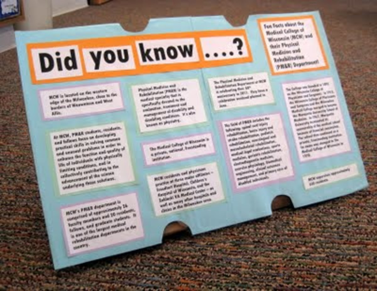 """Creating a """"Did you know...?"""" board about your future residency program is a fun way to share facts with your party guests."""