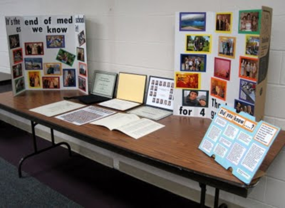 Don't forget to display your diploma, awards, and other significant documents and accomplishments from medical school.