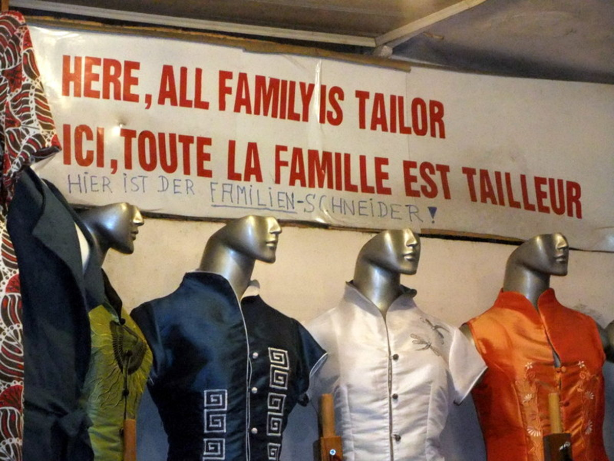 Tailoring is a common family business