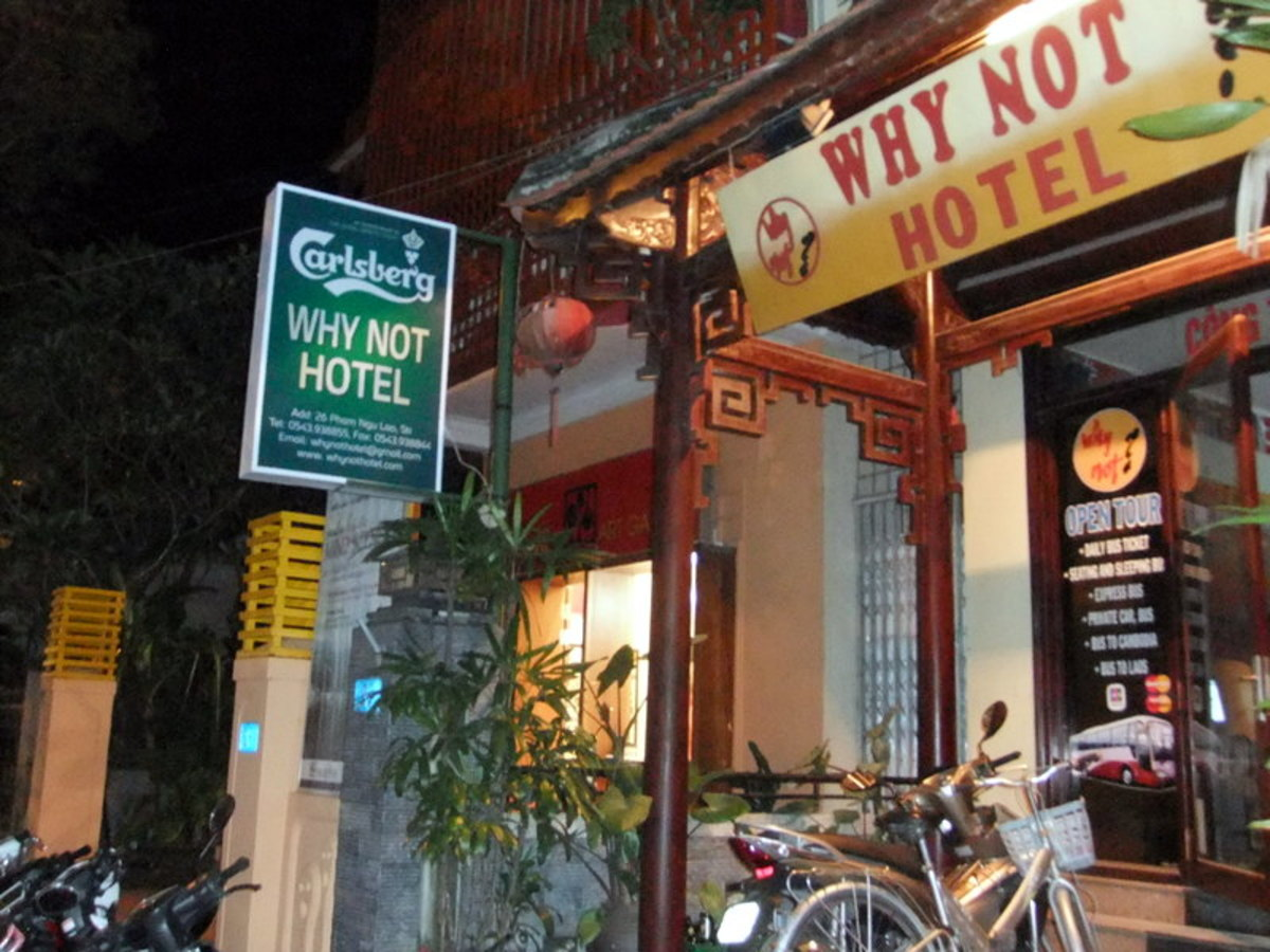 Why Not Hotel in Hue Vietnam. Can't think of another name? Well, it is catchy!